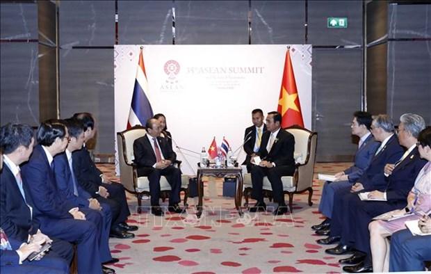 第35届东盟峰会:阮春福总理会见泰国总理巴育 hinh anh 1
