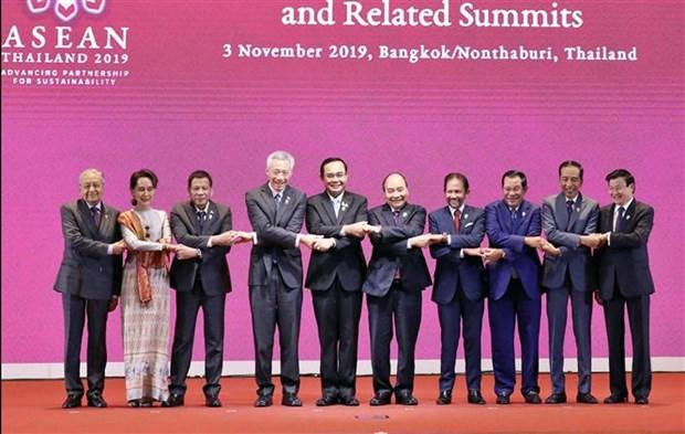 越南政府总理阮春福出席第35届东盟峰会开幕式 hinh anh 1