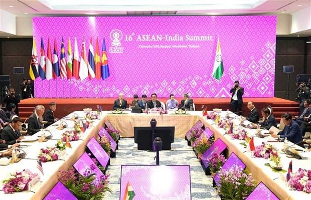 第35届东盟峰会:阮春福总理出席第16届东盟-印度领导人会议 hinh anh 1