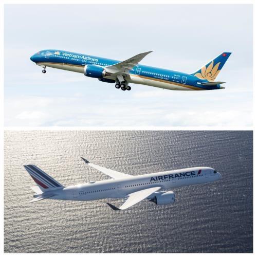 越航与法航之间的联营航班旅客数量近62.5万人次 hinh anh 1