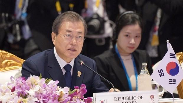 第35届东盟峰会:韩国总统建议东盟支持朝鲜半岛和平进程 hinh anh 1