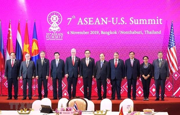 第35届东盟峰会:越南政府总理阮春福出席第7次东盟-美国领导人会议 hinh anh 1