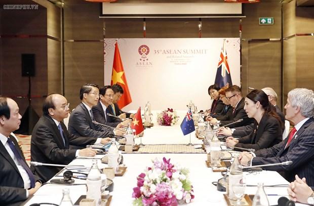 越南政府总理阮春福会见新西兰总理阿德恩 hinh anh 1