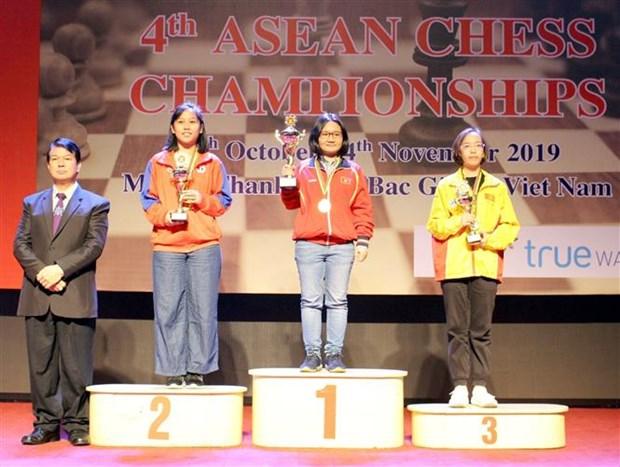 2019年东南亚国际象棋锦标赛闭幕 越南队夺得14枚奖牌 hinh anh 2