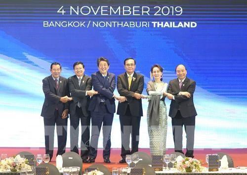 第35届东盟峰会:政府总理阮春福出席第十一届湄公河流域国家与日本峰会 hinh anh 1