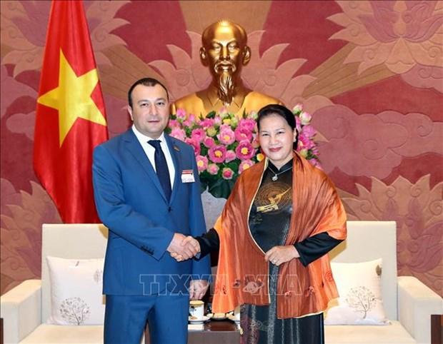 越南国会主席阮氏金银会见亚美尼亚国民议会副议长 hinh anh 1
