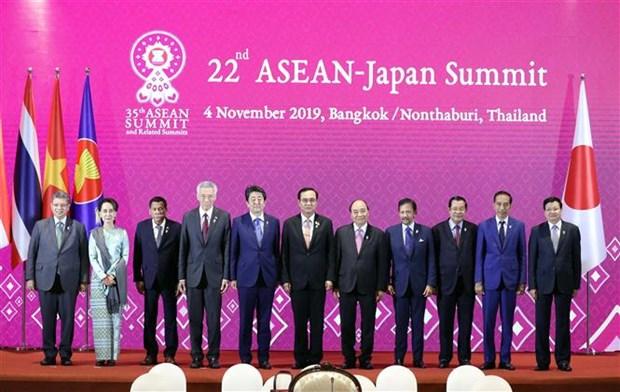 越南政府总理阮春福出席第22次东盟—日本领导人会议 hinh anh 1