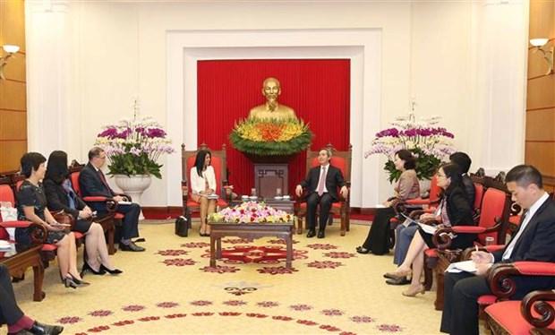越共中央经济部部长阮文平会见国际货币基金组织代表团 hinh anh 2