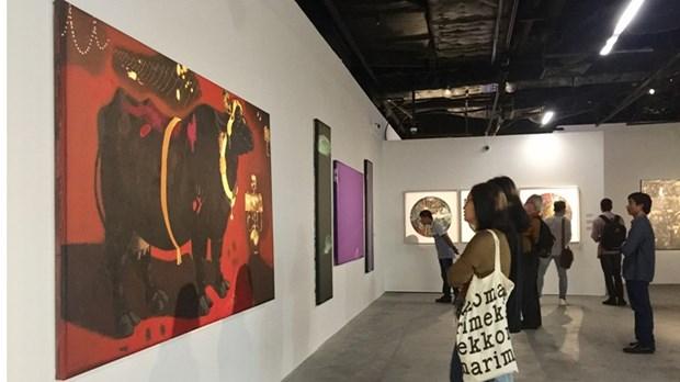 亚洲优秀画家的作品展在河内举行 hinh anh 1