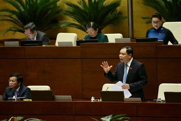 越南第十四届国会第八次会议:国会开始专题询问和回答询问活动 hinh anh 1