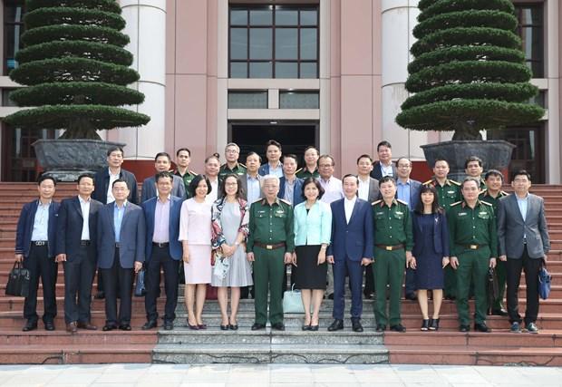 阮志咏上将会见越南驻外大使和首席代表 hinh anh 1