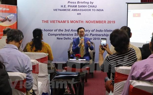 """印度""""越南月""""活动深化越印两国合作 hinh anh 1"""