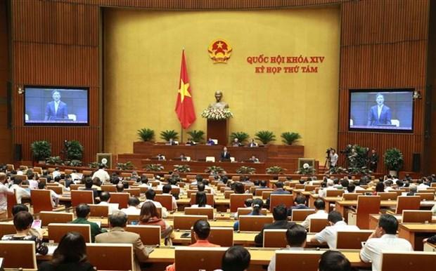 越南第十四届国会第八次会议:对越南工贸部长和内政部长进行专题询问 hinh anh 1
