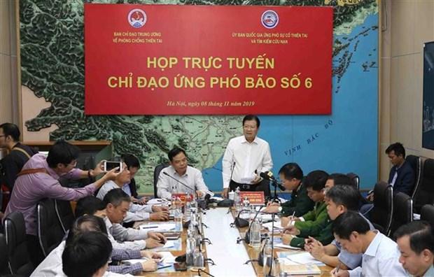 政府副总理郑廷勇主持召开视频会议 部署第六号台风应对工作 hinh anh 1