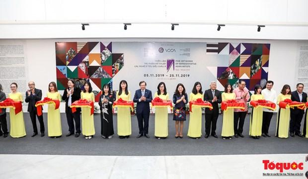 亚洲优秀艺人美术展在河内举行 hinh anh 1