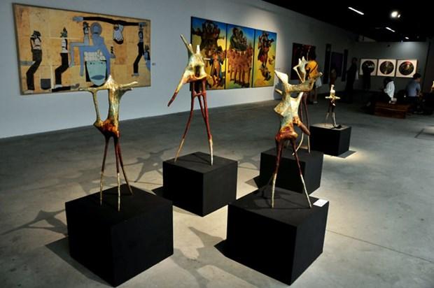 亚洲优秀艺人美术展在河内举行 hinh anh 2
