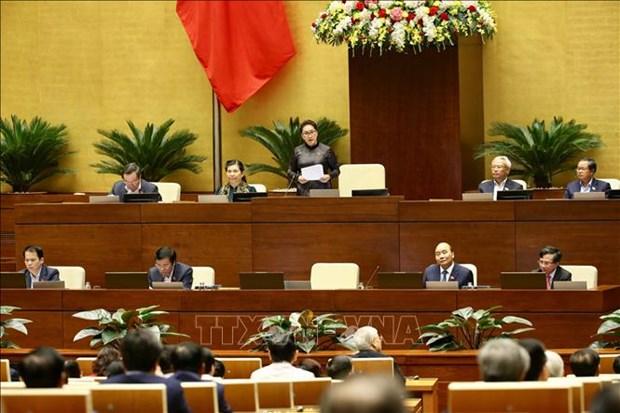 越南第十四届国会第八次会议专题询问活动落幕 hinh anh 1