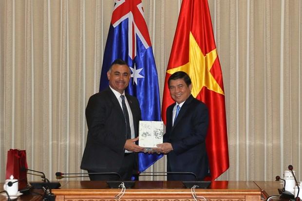 越南胡志明市同澳大利亚新南威尔士州加强合作 hinh anh 1