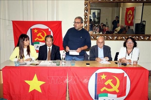"""意大利共产党举行""""胡志明主席遗嘱执行50周年""""纪念活动 hinh anh 1"""