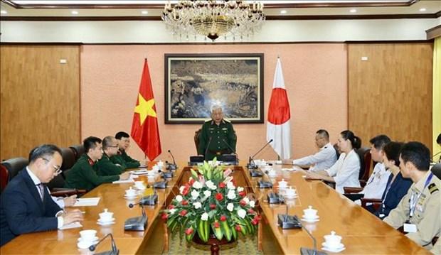 日本防卫省军官代表团访问越南 hinh anh 1