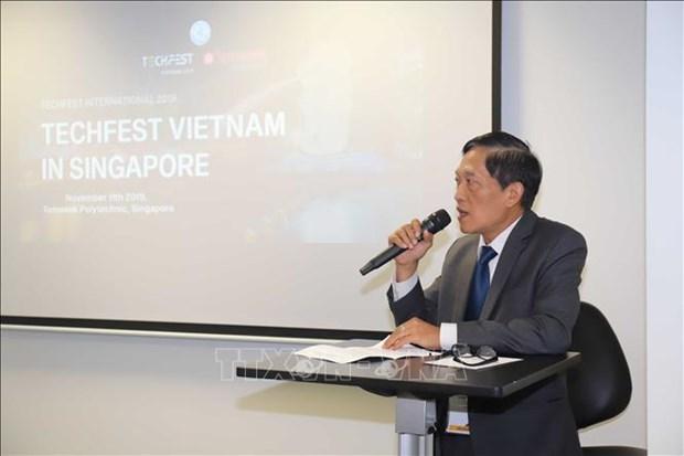 促进越南与新加坡科技领域的对接 hinh anh 1