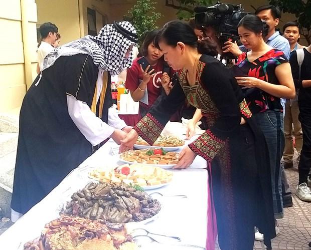 巴勒斯坦美食文化日活动首次在河内举行 hinh anh 1