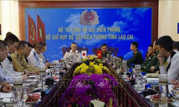 日本防卫省军官代表团访问老街省 hinh anh 1