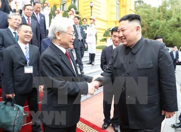 朝鲜《劳动新闻》歌颂朝越关系 hinh anh 1