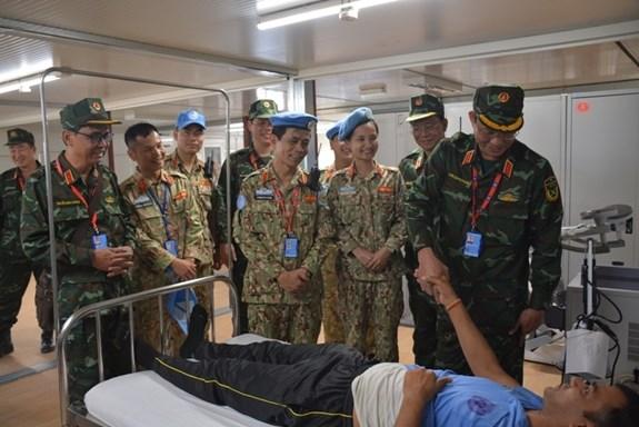 陈光方上将走访慰问在南苏丹执行维和任务的越南野战医院 hinh anh 1