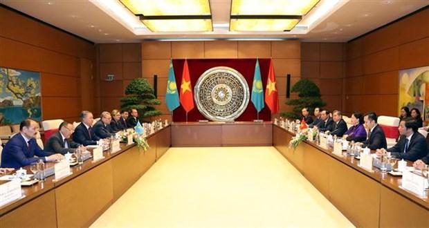 越南国会主席阮氏金银与哈萨克斯坦议会下院议长尼格马图林举行会谈 hinh anh 2