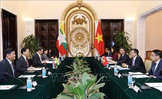 第八次越缅外交部副部长级政治磋商召开 hinh anh 1