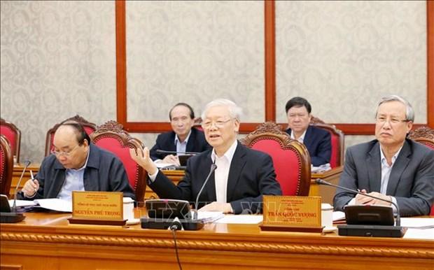 越共中央政治局讨论第十届中央政治局第48号结论和第60号结论实施10年总结提案 hinh anh 1