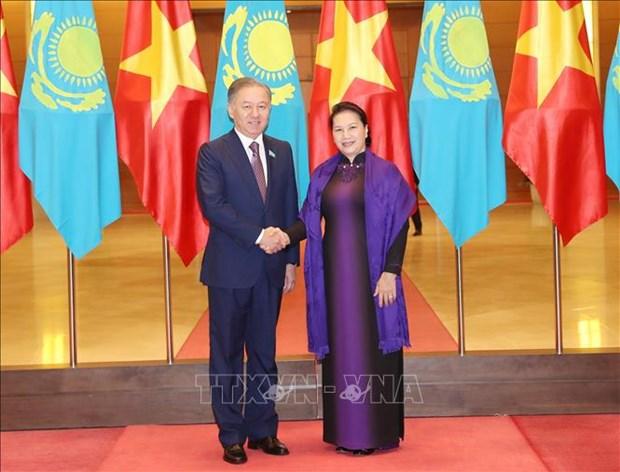 哈萨克斯坦议会下院议长尼格马图林圆满结束对越南的正式访问 hinh anh 1