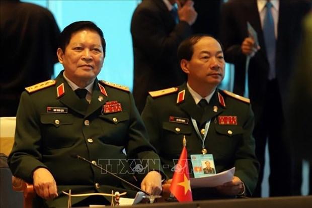 ADMM 2019:越南国防部长呼吁东盟继续加强内部团结协作 hinh anh 2