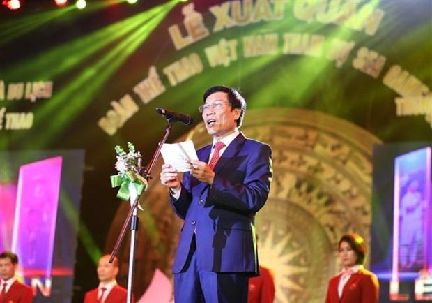 越南体育代表团出征第30届东南亚运动会 hinh anh 2