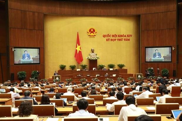 越南第十四届国会第八次会议:通过关于批准《少数民族地区、山区、特困地区的经济社会发展总体提案》的决议 hinh anh 1