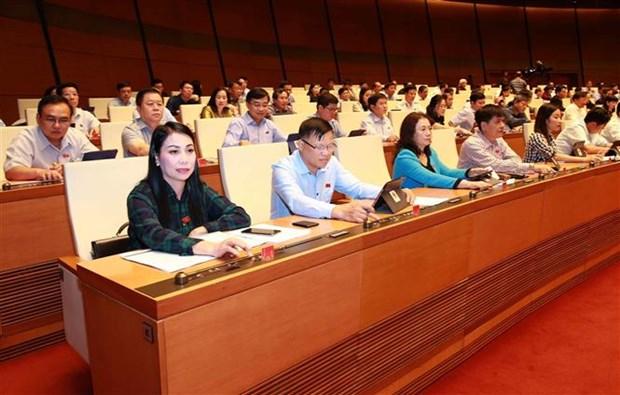越南第十四届国会第八次会议:通过关于批准《少数民族地区、山区、特困地区的经济社会发展总体提案》的决议 hinh anh 2