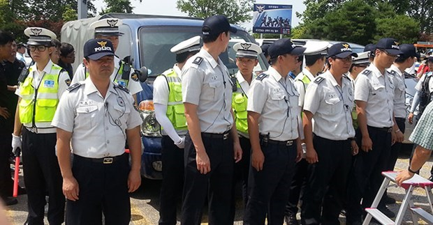 韩国警察逮捕杀害越南配偶的嫌犯 hinh anh 1