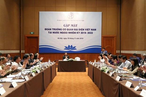 越南驻外代表机构与河内市建设与发展事业并肩同行 hinh anh 1