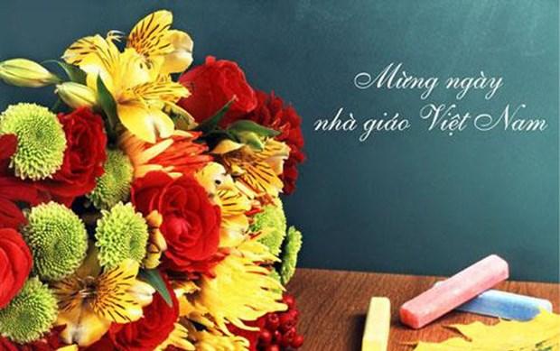 外教在越南过教师节 获得具有意义的体验 hinh anh 1