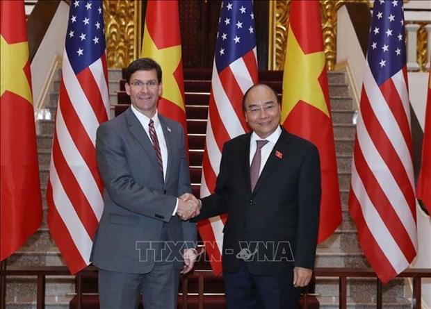 美国国防部长:美国希望加强与越南的防务合作 hinh anh 1