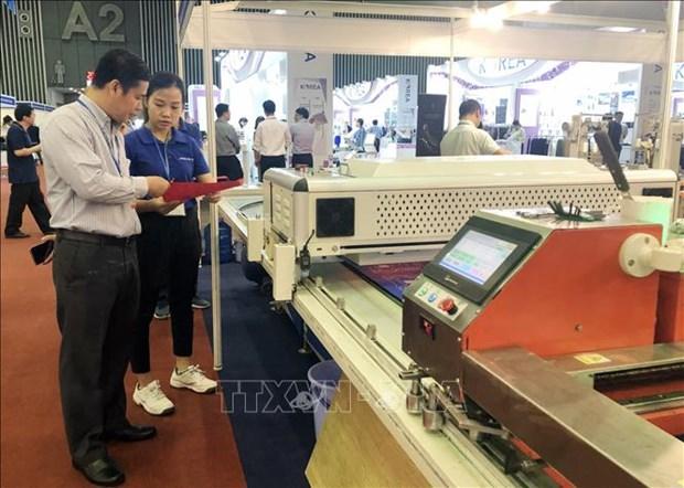 关于纺织与皮革工业产业的展览会在胡志明市开幕 hinh anh 1