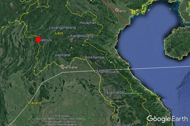 老挝21日凌晨先后发生5.9级和6.1级地震 hinh anh 1