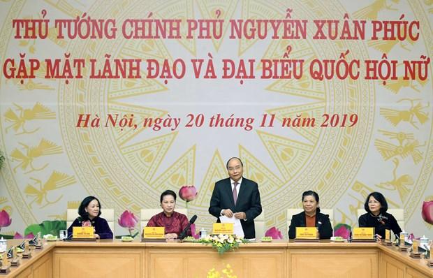 阮春福:强化女性地位对实现国家多项重大目标起着决定性作用 hinh anh 1