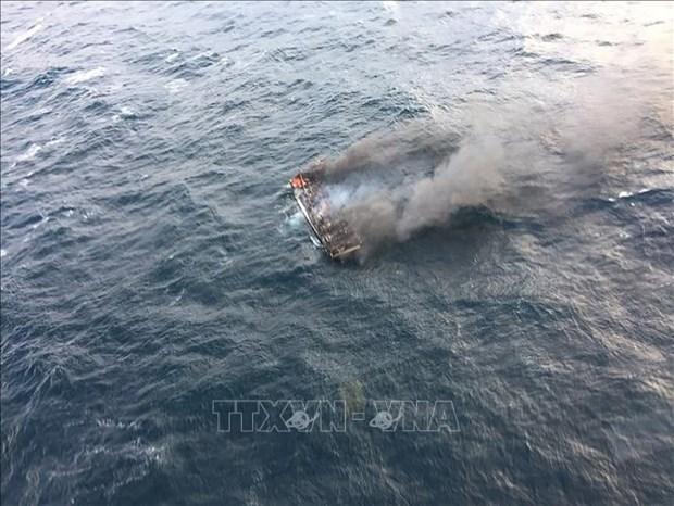 越南驻韩国大使馆代表走访慰问失踪船员家属 hinh anh 1