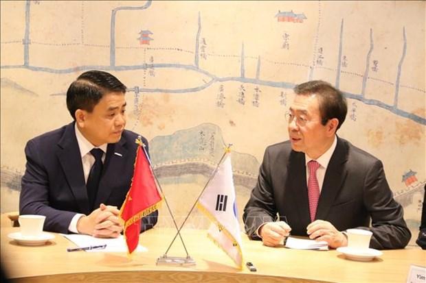 河内市代表团对韩国进行工作访问 hinh anh 1
