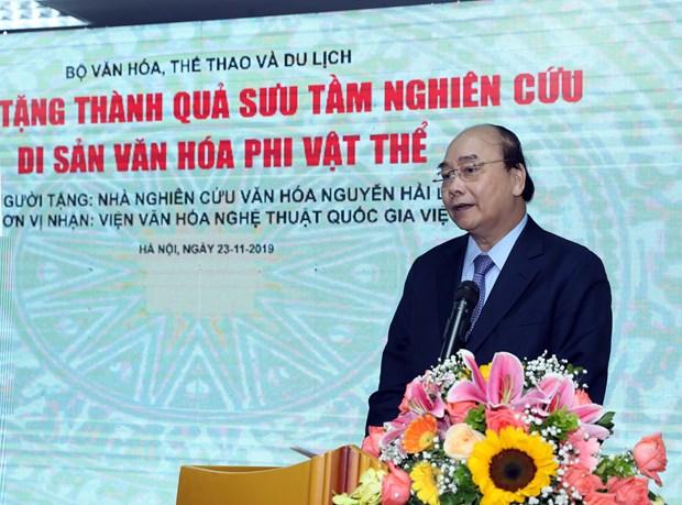 阮春福:文化特色是构成民族特色的核心要素之一 hinh anh 2