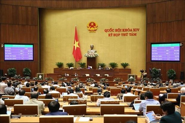 越南第十四届国会第八次会议进入最后一周 hinh anh 1