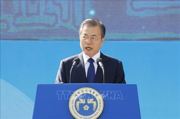 韩总统文在寅呼吁加强韩国-东盟文化合作 hinh anh 1