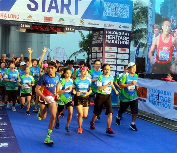 2019年下龙湾国际遗产马拉松大赛吸引3000余名选手参加 hinh anh 1